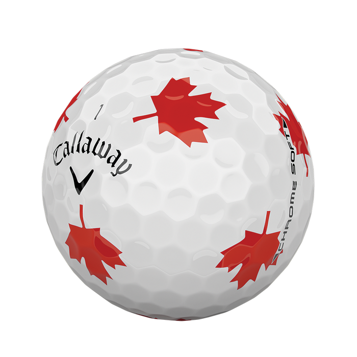 2018 Chrome Soft Truvis Maple Leaf Golf Balls