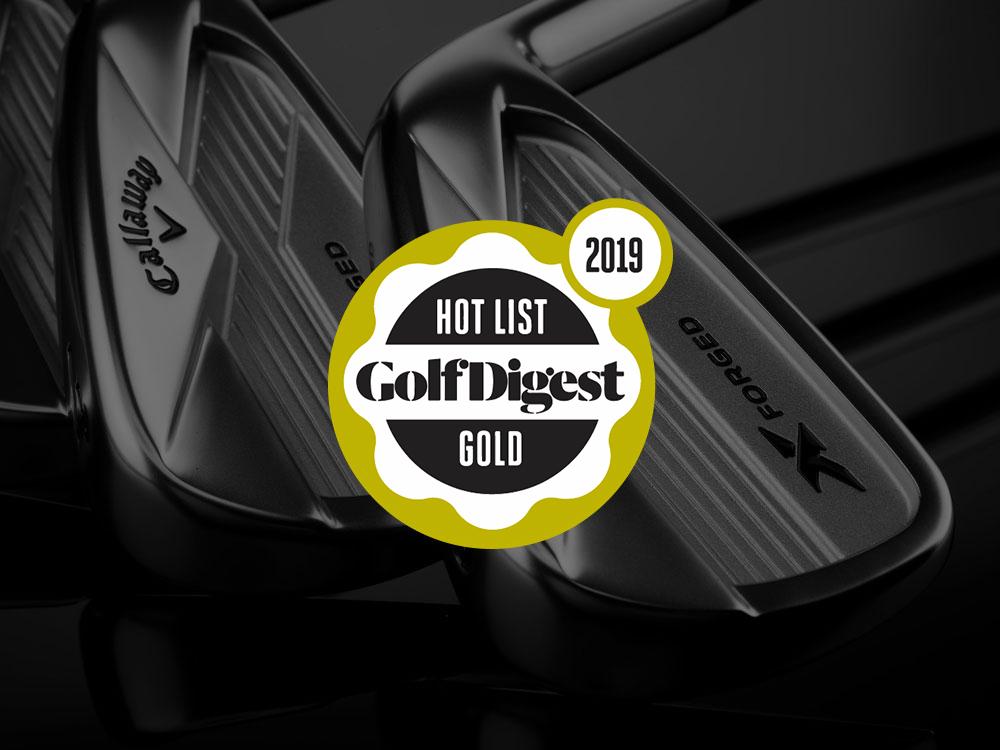 Callaway 2018 X Forged Irons 2018 Golf Digest Hot List Badge