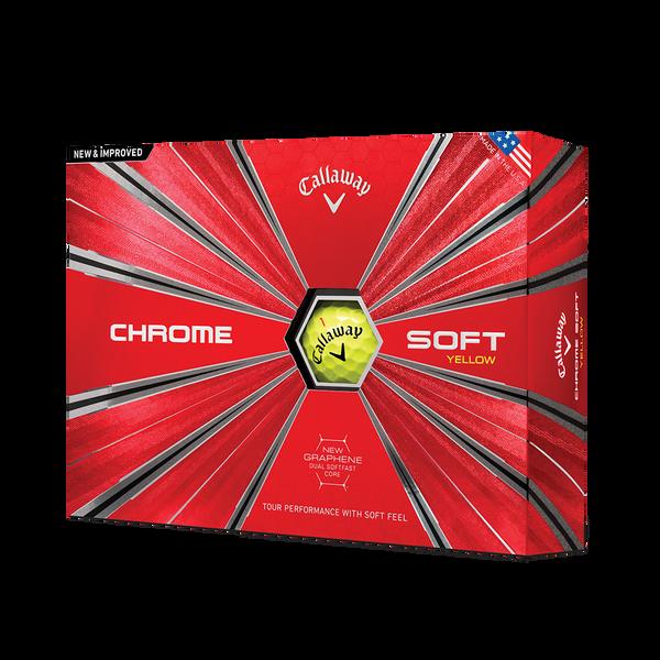 2018 Chrome Soft Yellow Golf Balls Technology Item