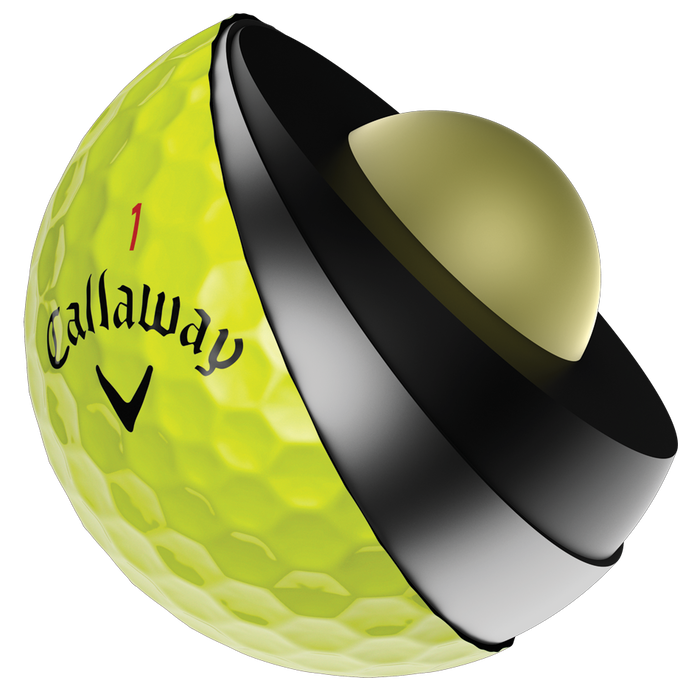 Chrome Soft X Yellow Golf Balls