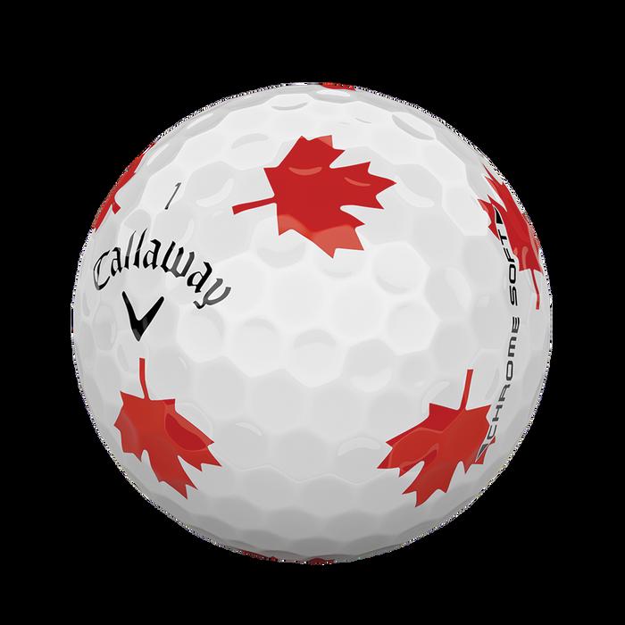2018 Chrome Soft Truvis Maple Leaf Golf Balls