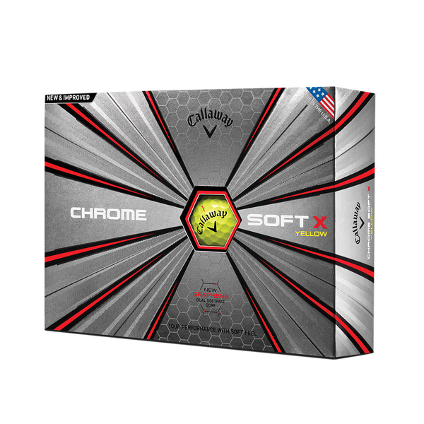 2018 Chrome Soft X Yellow Golf Balls Technology Item