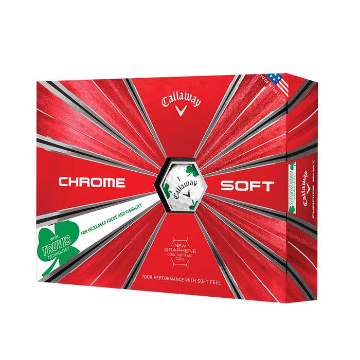 2018 Chrome Soft Shamrock Truvis Golf Balls