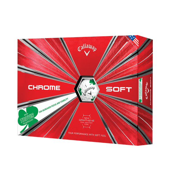 2018 Chrome Soft Shamrock Truvis Golf Balls Technology Item