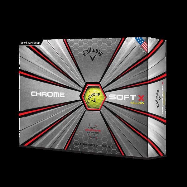 Chrome Soft X Yellow Golf Balls Technology Item