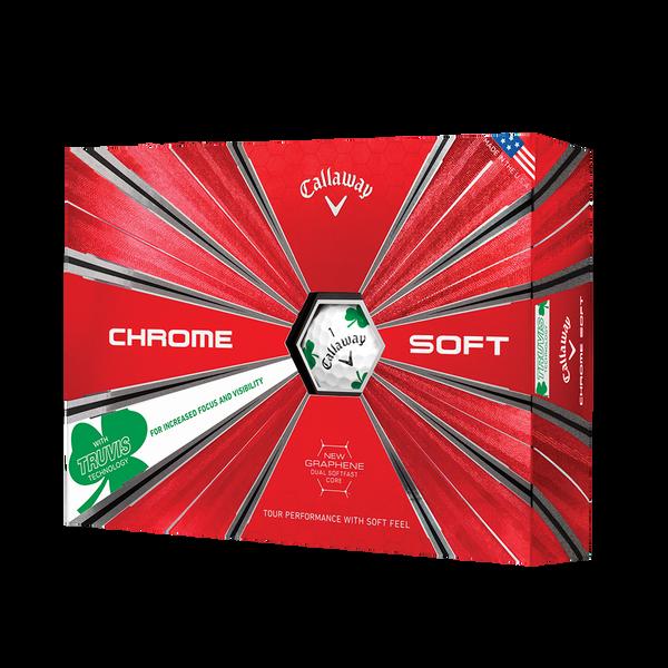 Chrome Soft Shamrock Truvis Golf Balls Technology Item