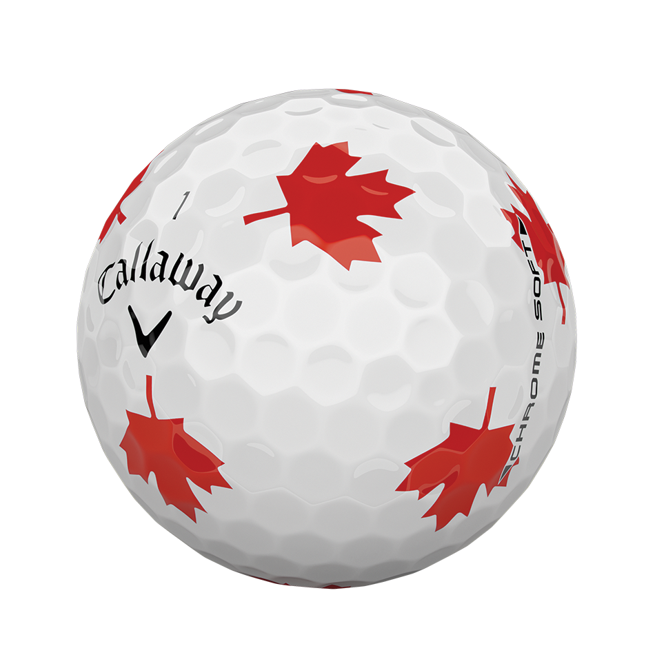 2018 Chrome Soft Truvis Maple Leaf Golf Balls - View 4