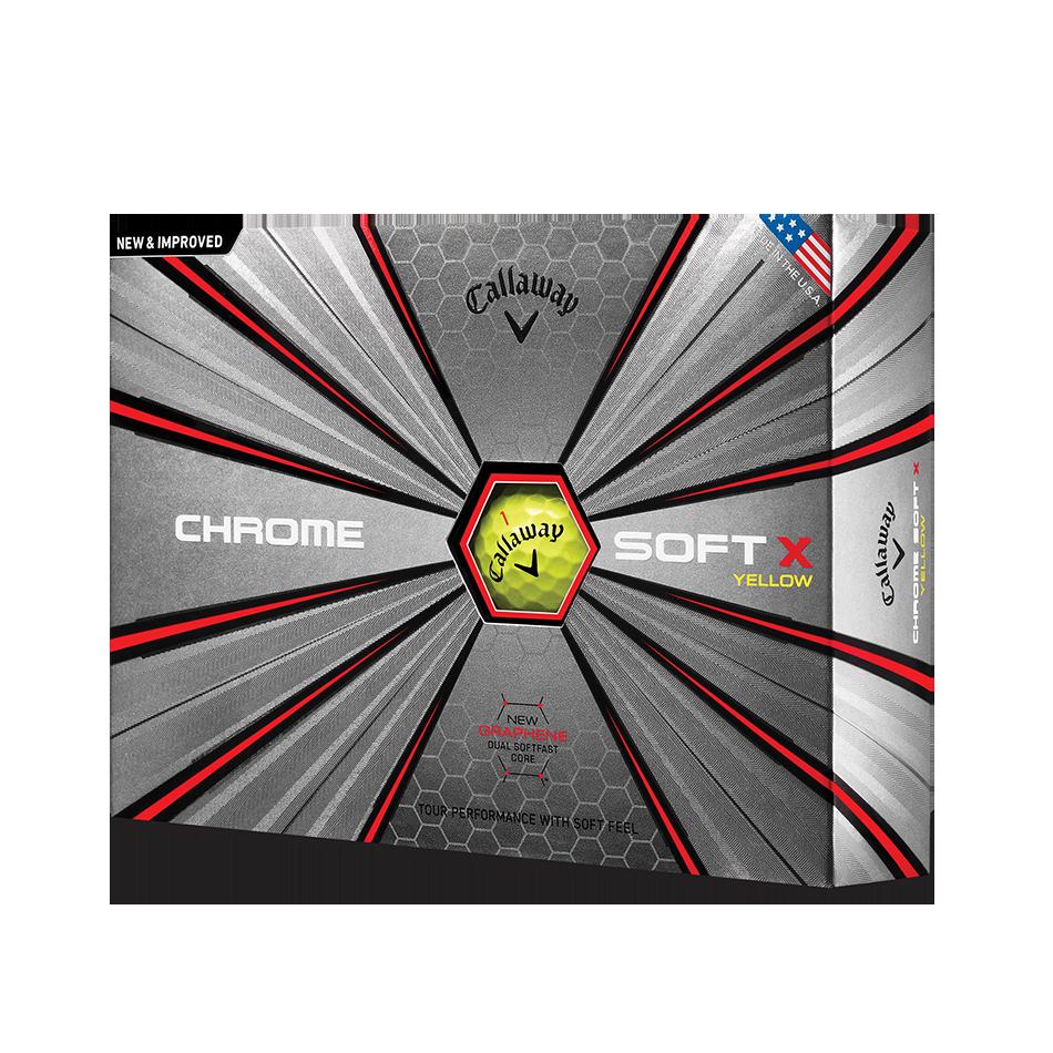 Chrome Soft X Yellow Golf Balls - Featured