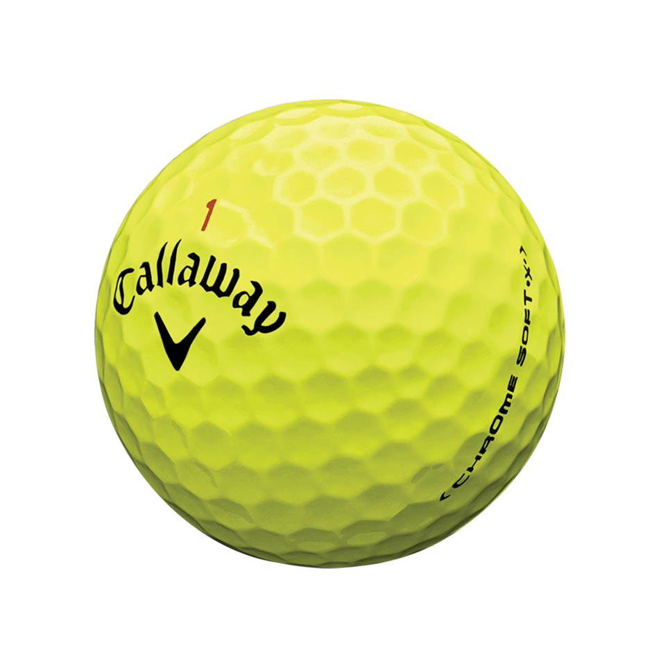 Chrome Soft X Yellow Golf Balls - View 2