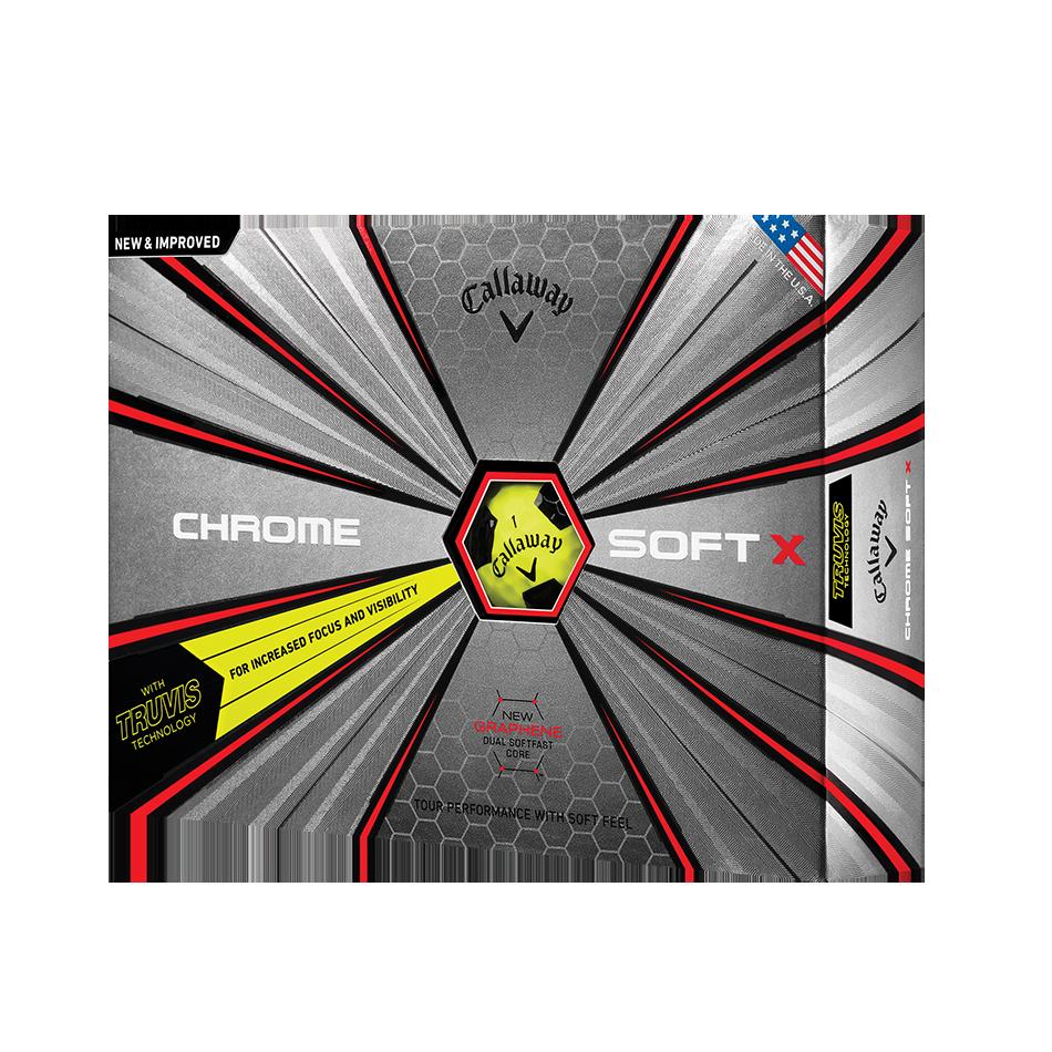 Chrome Soft X Truvis Yellow Golf Balls - Featured