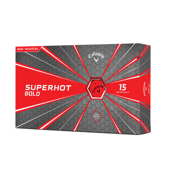 2018 Superhot Bold Matte Red 15-Pack Golf Balls