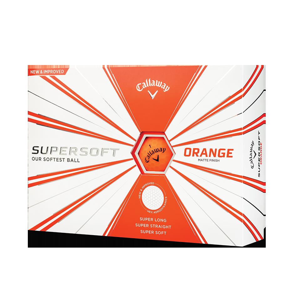 Callaway Supersoft Matte Orange Golf Balls - Featured