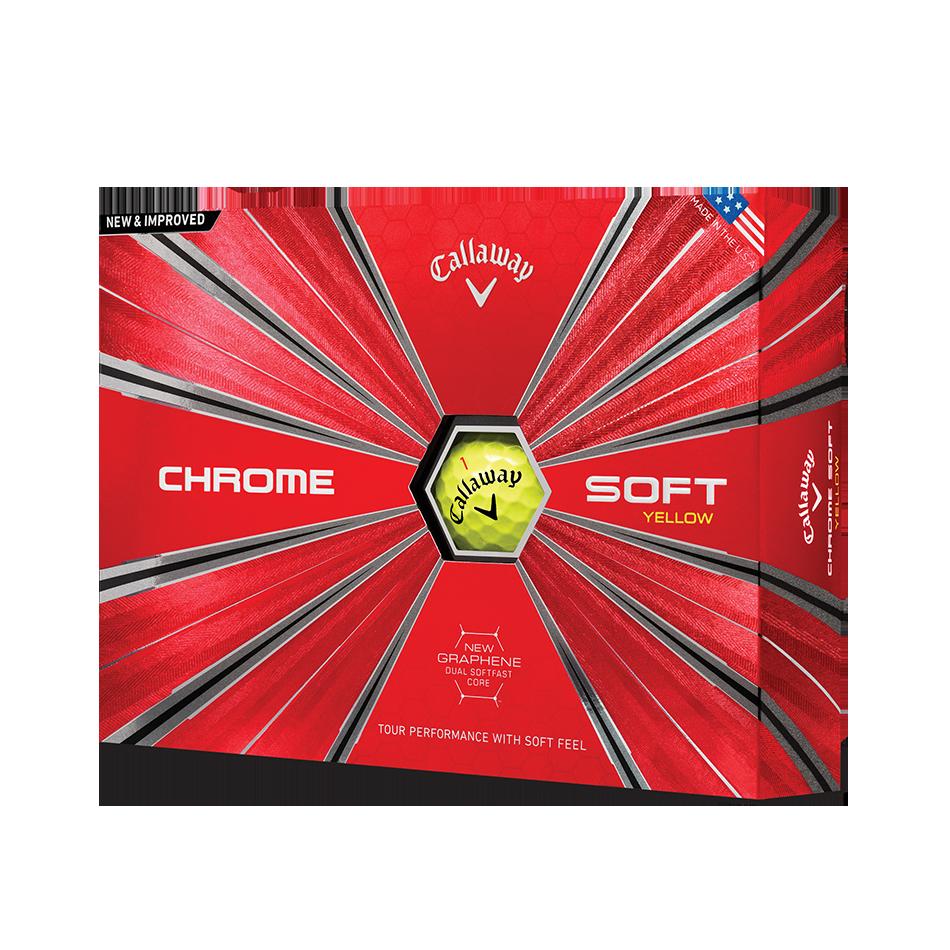 Chrome Soft Yellow 18 Golf Balls - Featured