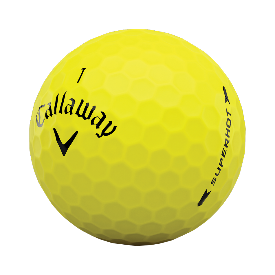 Superhot Bold Matte Yellow 15-Pack Golf Balls - View 4