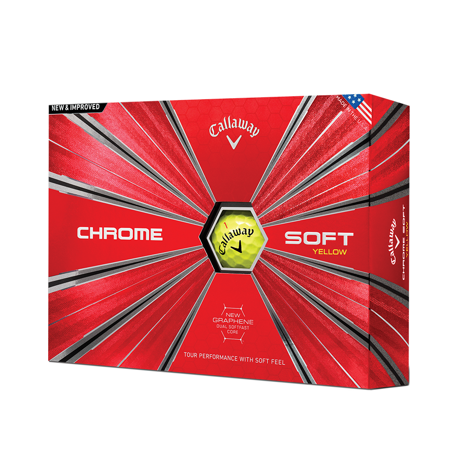 Chrome Soft Yellow 18 Golf Balls - Featured