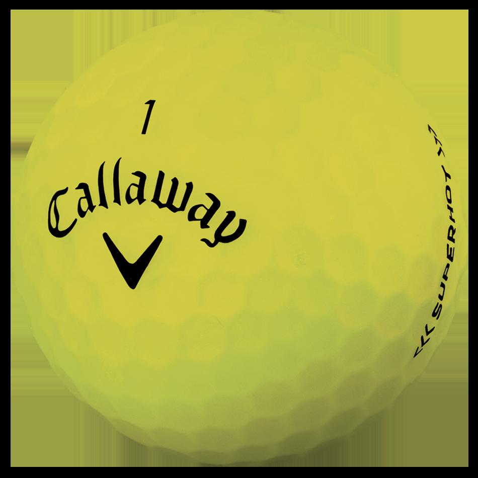 2018 Superhot Bold Matte Yellow 15-Pack Golf Balls - View 4