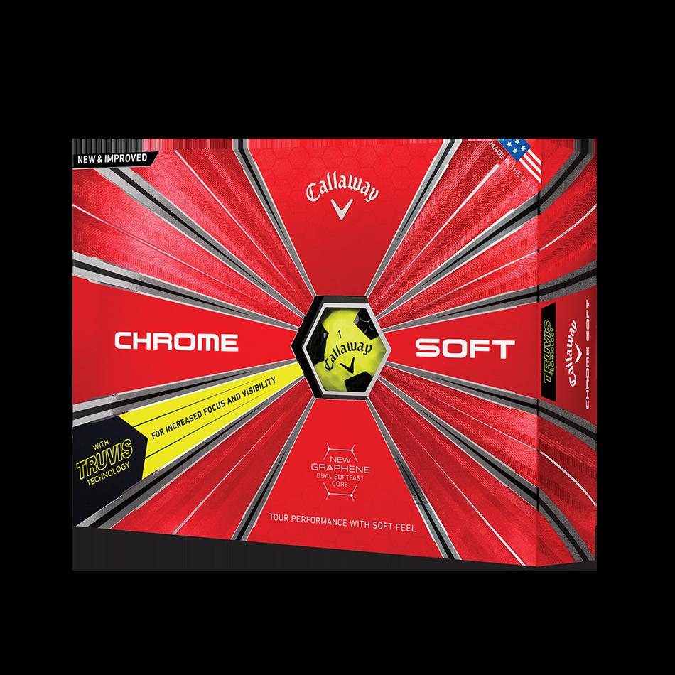 Chrome Soft Truvis Yellow 2018 Golf Balls - Featured