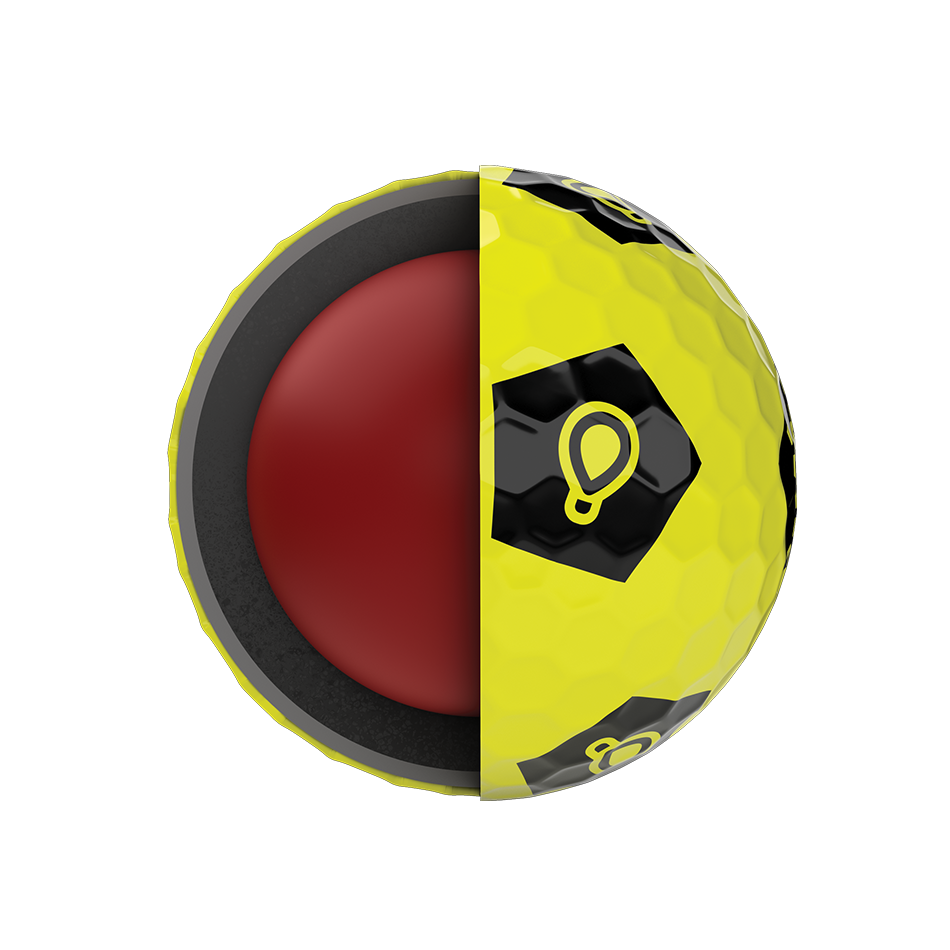 Limited Edition Chrome Soft Truvis Play Yellow Golf Balls - View 5