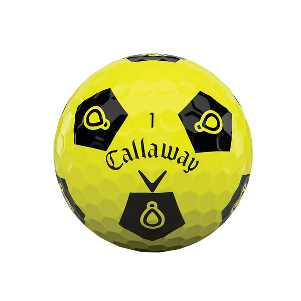 Limited Edition Chrome Soft Truvis Play Yellow Golf Balls - View 3