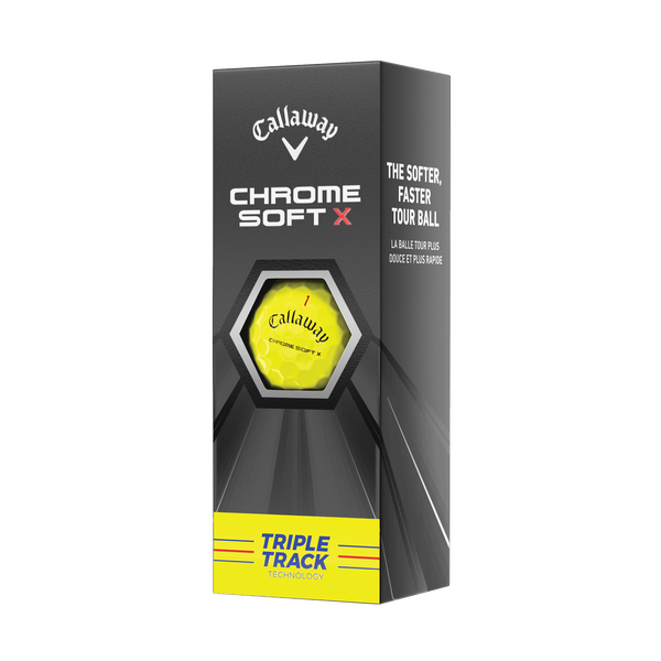Chrome Soft X Triple Track Yellow Golf Balls - View 2