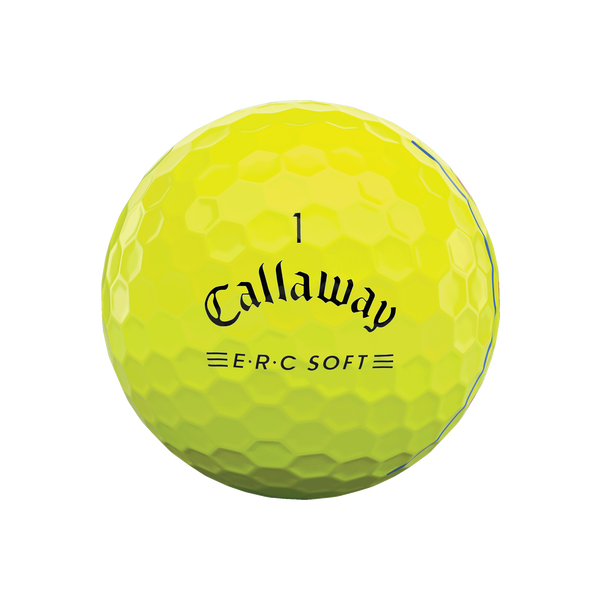 E•R•C Soft Yellow Golf Balls - View 3