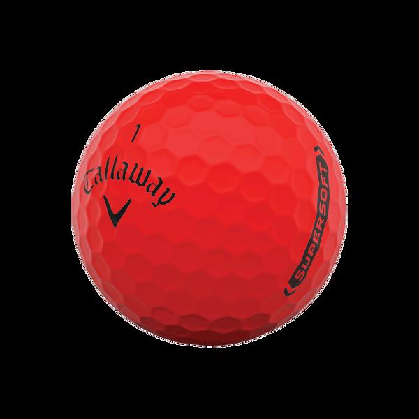 Callaway Supersoft Matte Red Golf Balls - View 4