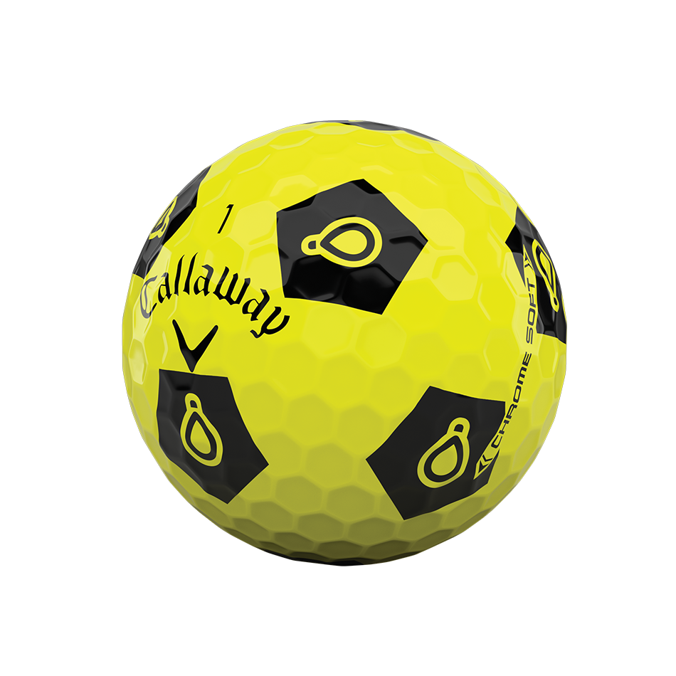Limited Edition Chrome Soft Truvis Play Yellow Golf Balls - View 4