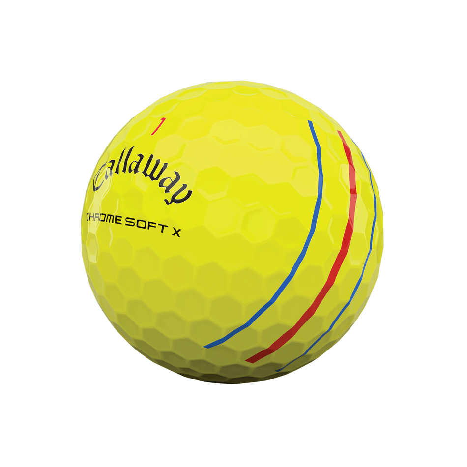 Chrome Soft X Triple Track Yellow Golf Balls - View 4