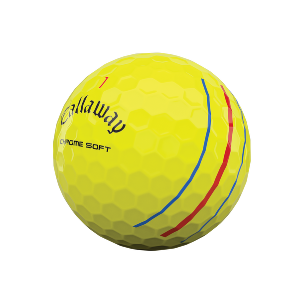 Chrome Soft Yellow Triple Track Golf Balls - View 4