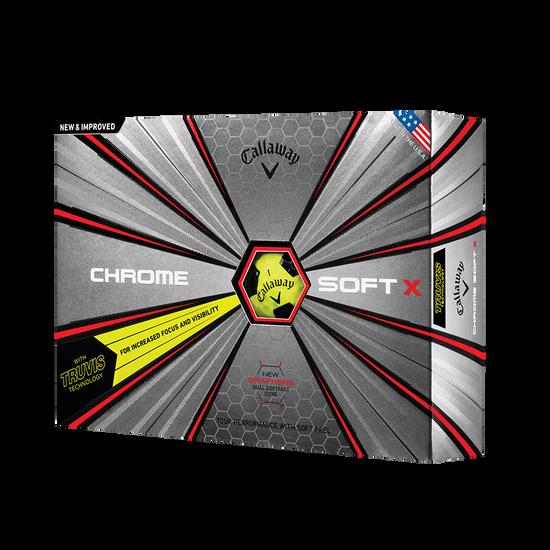 2018 Balle de Golf Chrome Soft X Truvis Jaune
