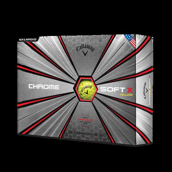 2018 Balle de Golf Chrome Soft X Jaune