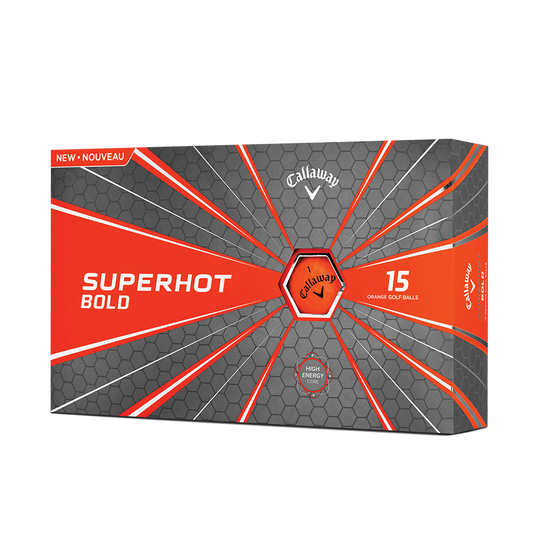 Balle de Golf Superhot Bold Matte Orange 15-Pack