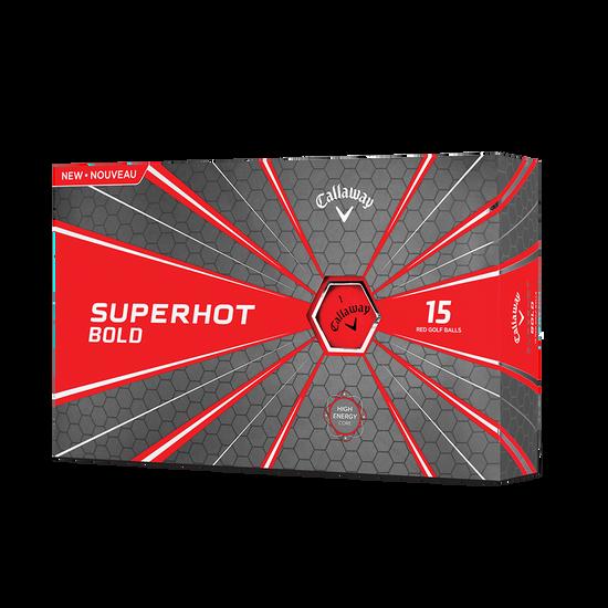 Balle de Golf Superhot Bold Matte Rouge 15-Pack