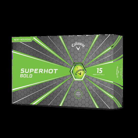 2018 Superhot Bold Matte Green 15-Pack Golf Balls