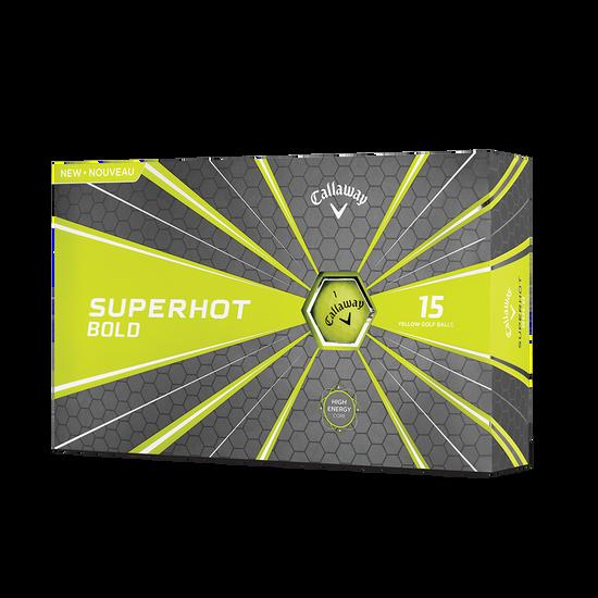Balle de Golf Superhot Bold Matte Jaune 15-Pack