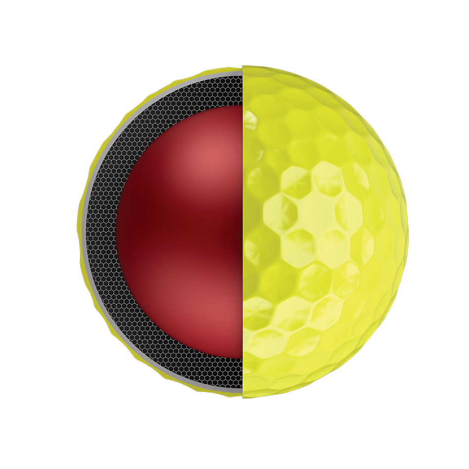 2018 Balle de Golf Chrome Soft Jaune - View 3