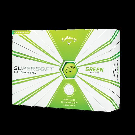 Balles de golf Supersoft Matte Vert