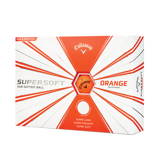 Balles de golf Supersoft Matte Orange