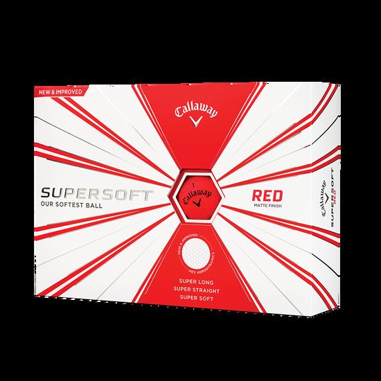 Balles de golf Supersoft Matte Rouge