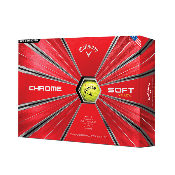2018 Balle de Golf Chrome Soft Jaune - View 1