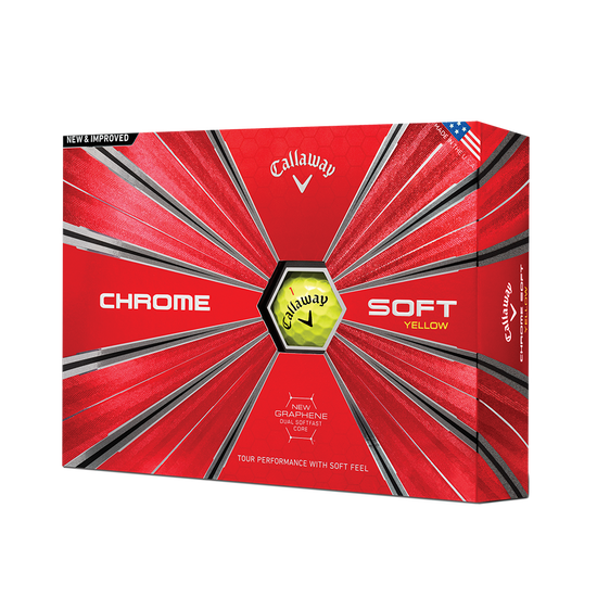 2018 Balle de Golf Chrome Soft Jaune