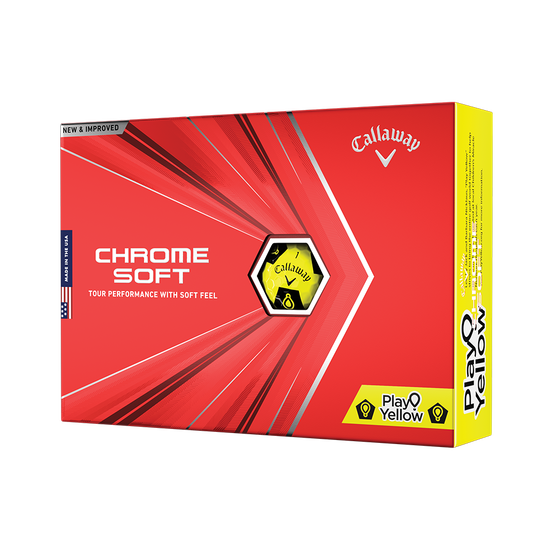 Limited Edition Chrome Soft Truvis Play Yellow Golf Balls