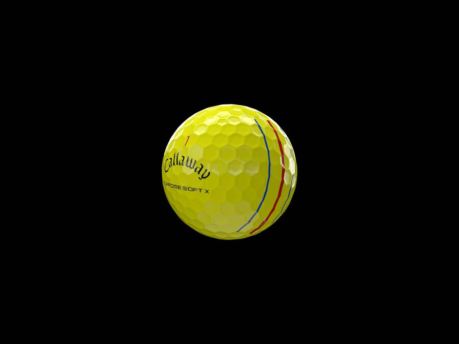 Chrome Soft X Triple Track Yellow Golf Balls - Featured