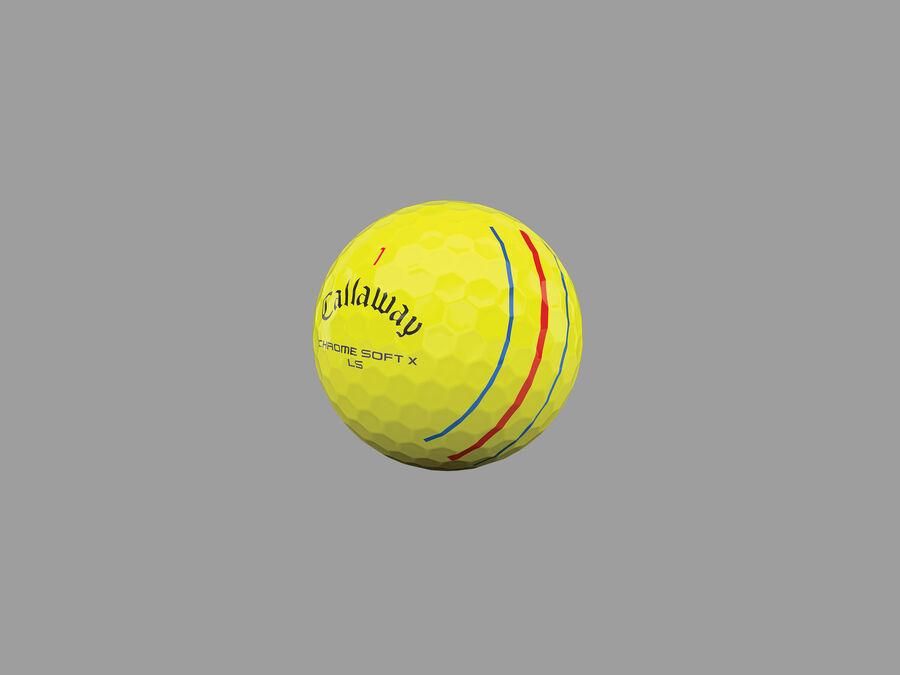 Balles de golf Chrome Soft X LS Triple Track jaunes - Featured