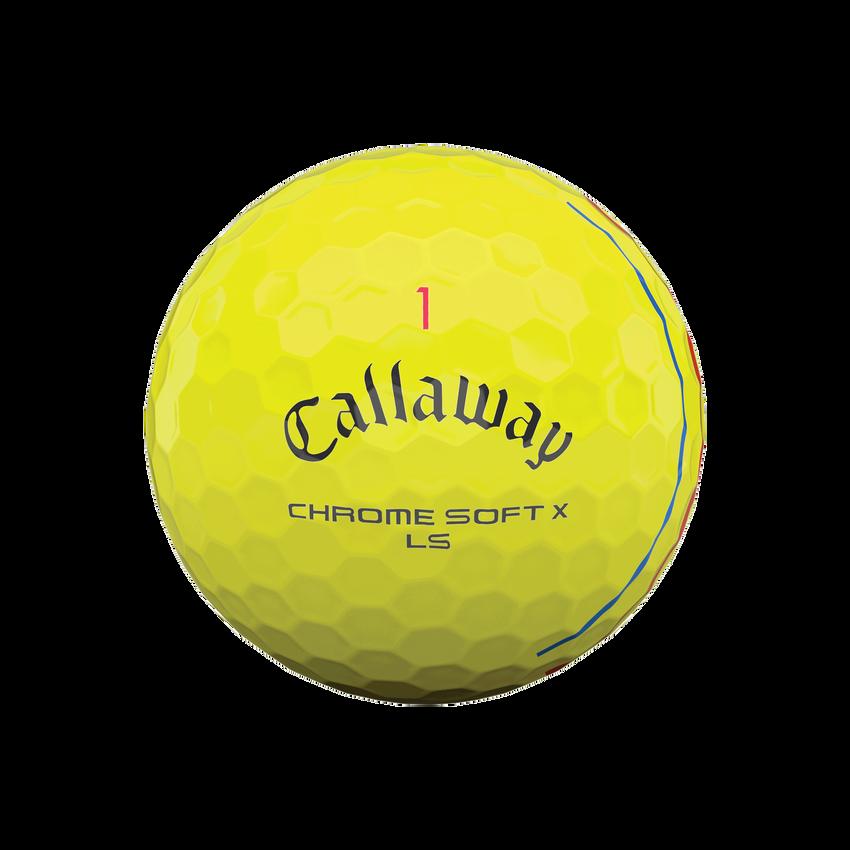 Balles de golf Chrome Soft X LS Triple Track jaunes - View 3