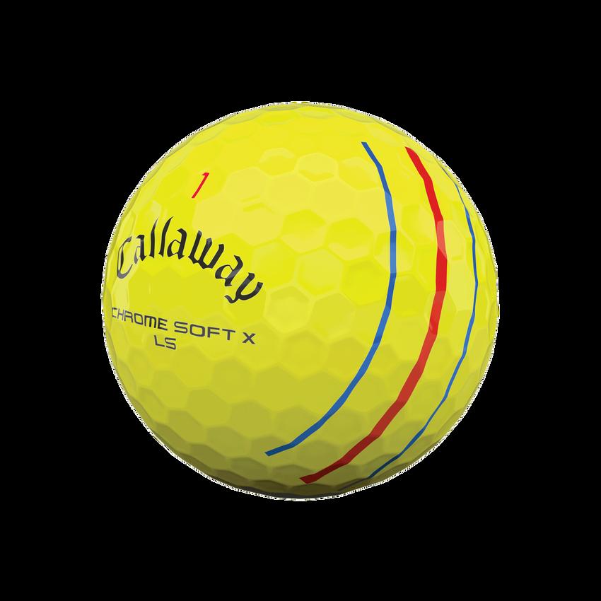 Balles de golf Chrome Soft X LS Triple Track jaunes - View 4