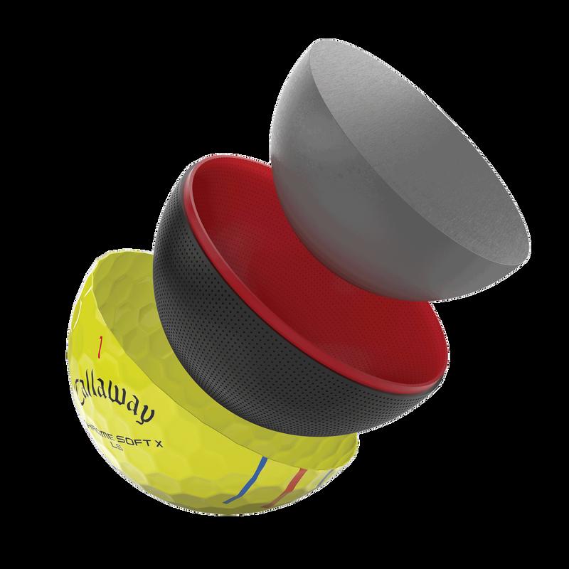 Voici la Chrome Soft X LS Triple Track jaune illustration