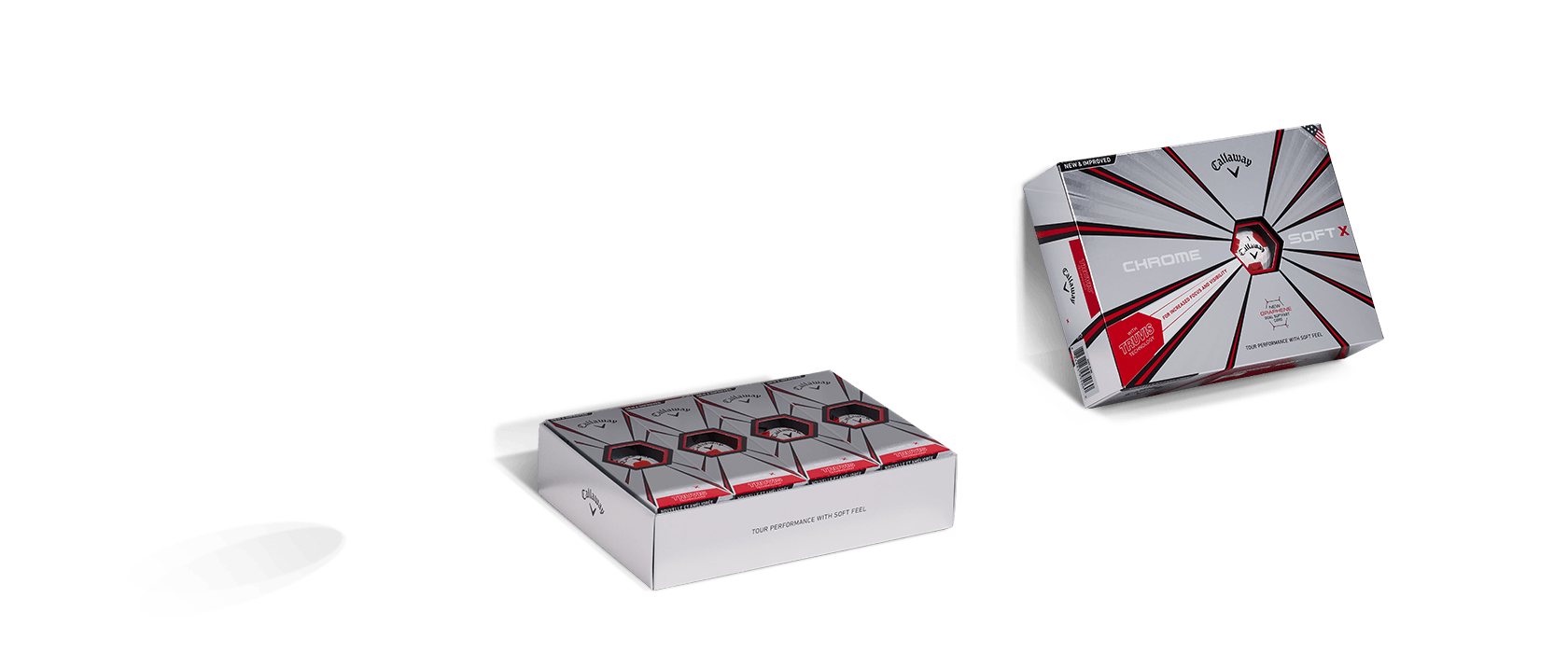 Chrome Soft Truvis Golf Ball Box