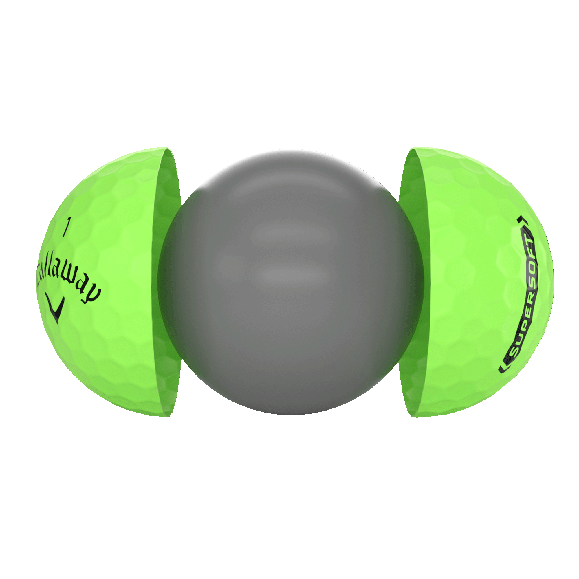 Introducing Callaway Supersoft Matte Green Golf Balls illustration
