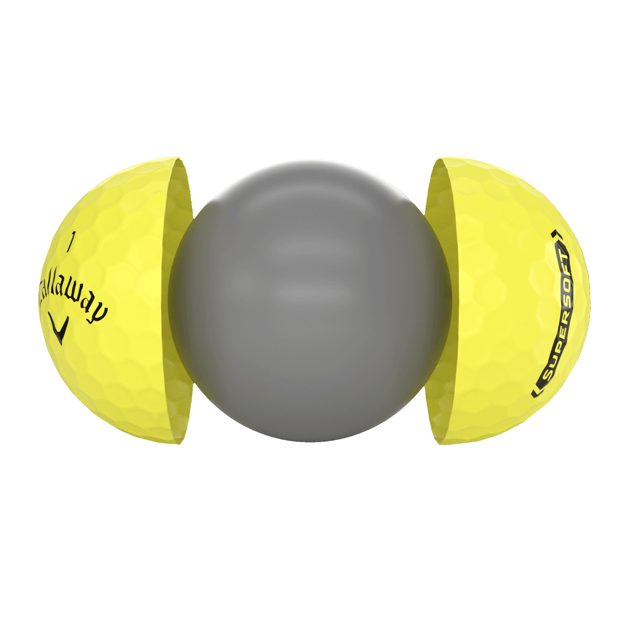 Introducing Callaway Supersoft Yellow Golf Balls illustration